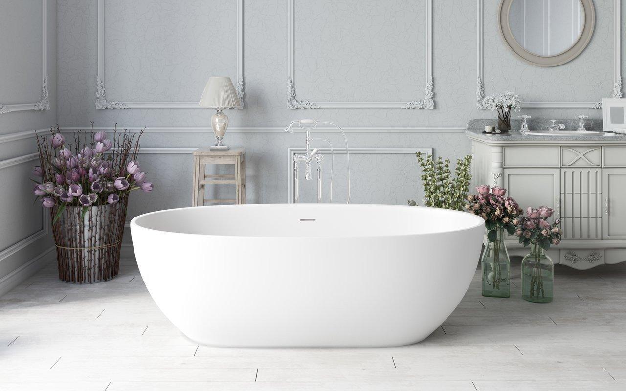 Corelia™ Отдельностоящая Каменная Ванна picture № 0