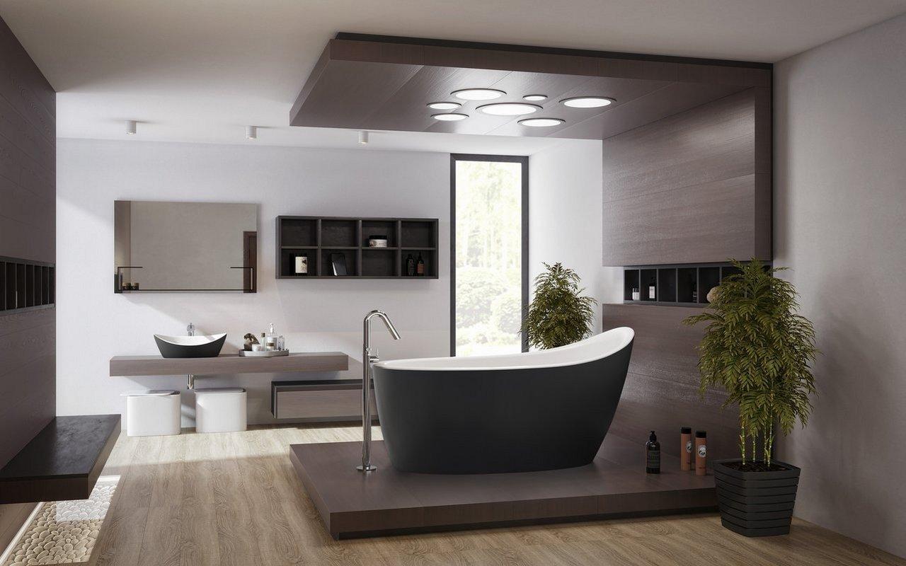Aquatica Emmanuelle 2 Black Wht Freestanding Solid Surface Bathtub 01 (web)