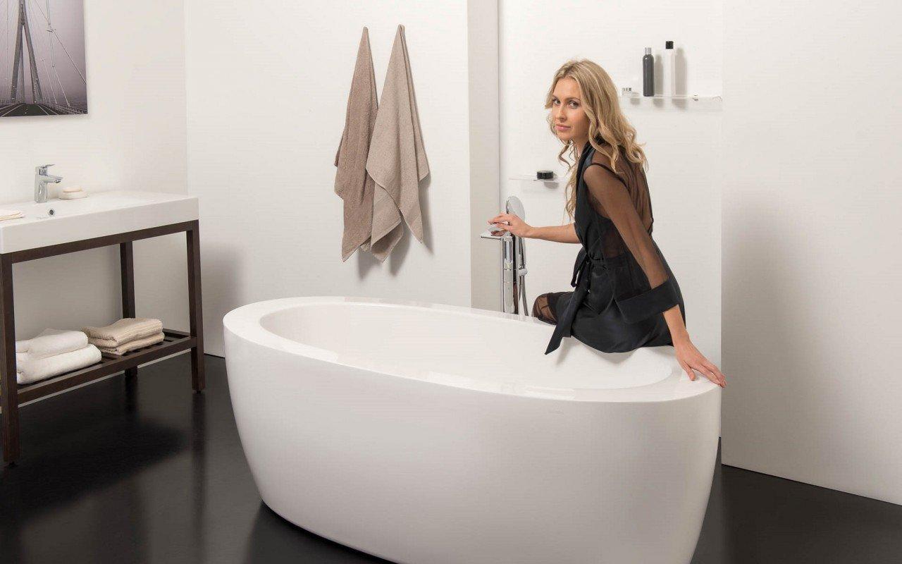 Aquatica Purescape™ 174B-Wht Freestanding Acrylic Bathtub picture № 0