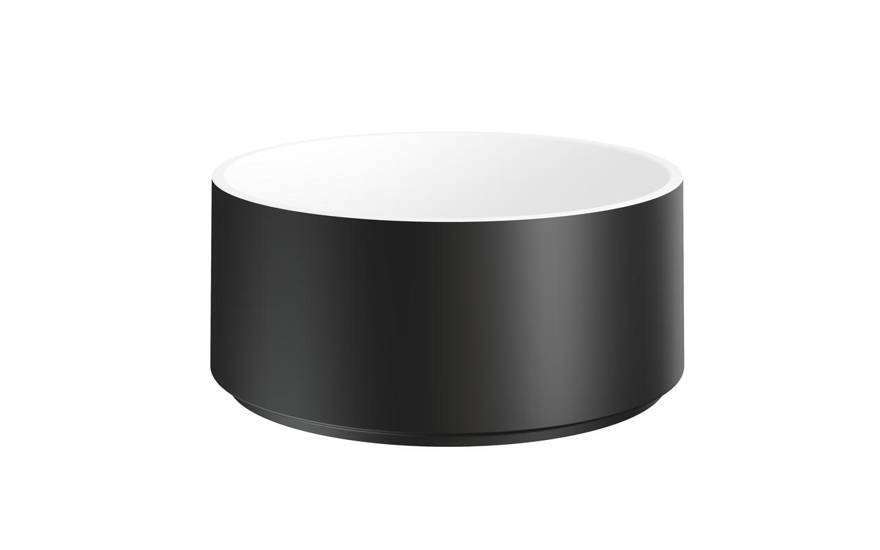 Solace-B Накладная Каменная Раковина Круглая Черно-Белая picture № 0