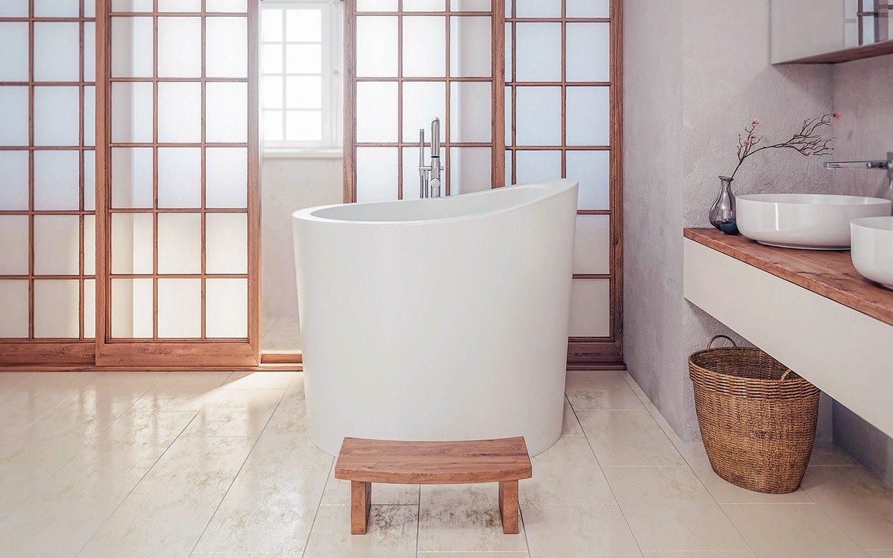 True Ofuro Mini Сидячая Каменная Ванна в Японском Стиле picture № 0