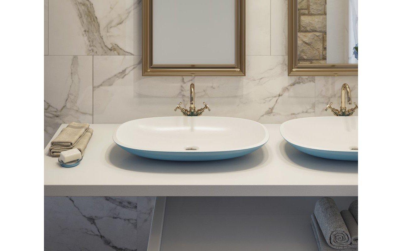 Coletta-A Jaffa Blue Накладная Каменная Раковина Сине-Белая picture № 0