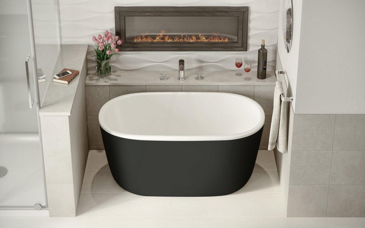 Lullaby Nano Black Wht Small Freestanding Solid Surface Bathtub by Aquatica (2 2) (web)