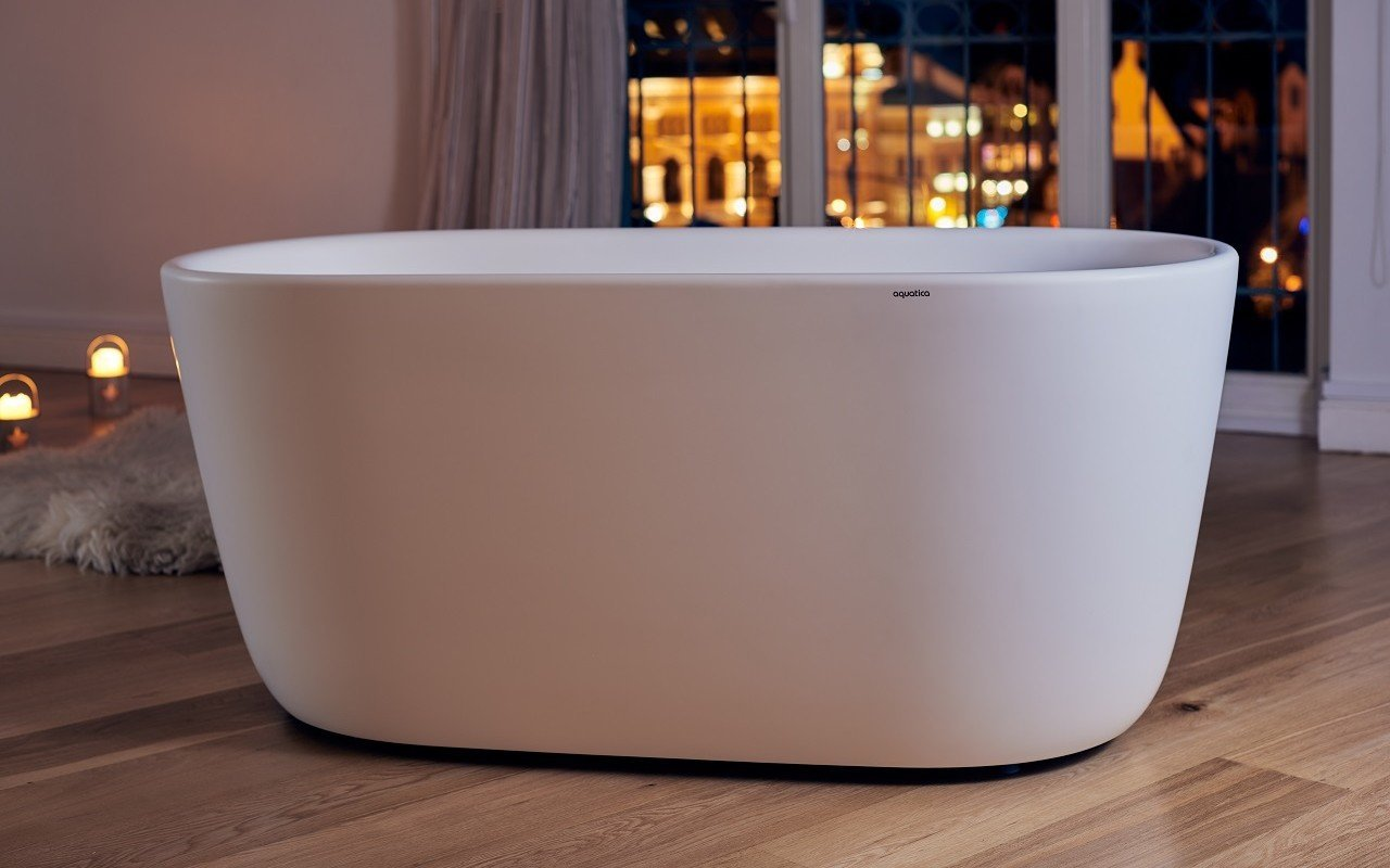 Aquatica Lullaby-Mini-Wht™ Freestanding Solid Surface Bathtub picture № 0