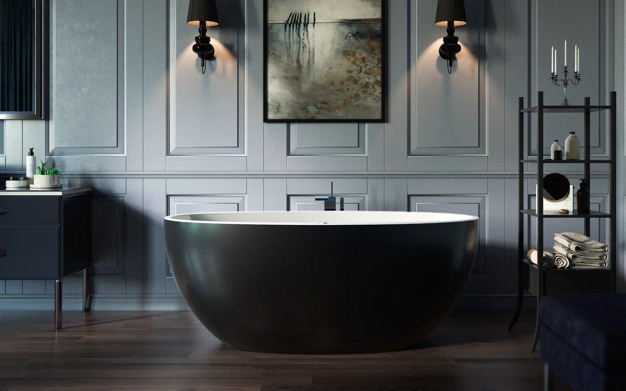 Sensuality mini f black wht relax freestanding solid surface bathtub by Aquatica 00 (web)