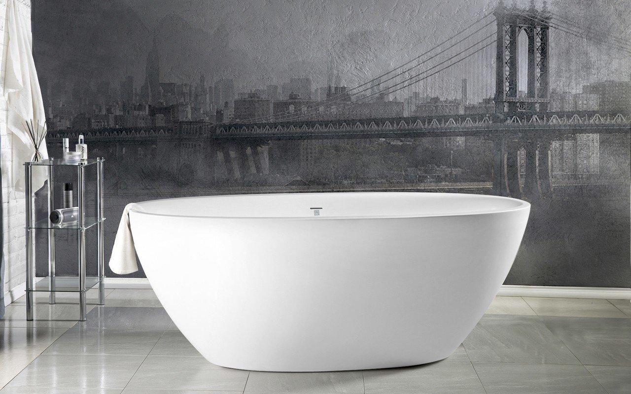 Aquatica Sensuality™ Mini-F-Wht Freestanding Solid Surface Bathtub picture № 0