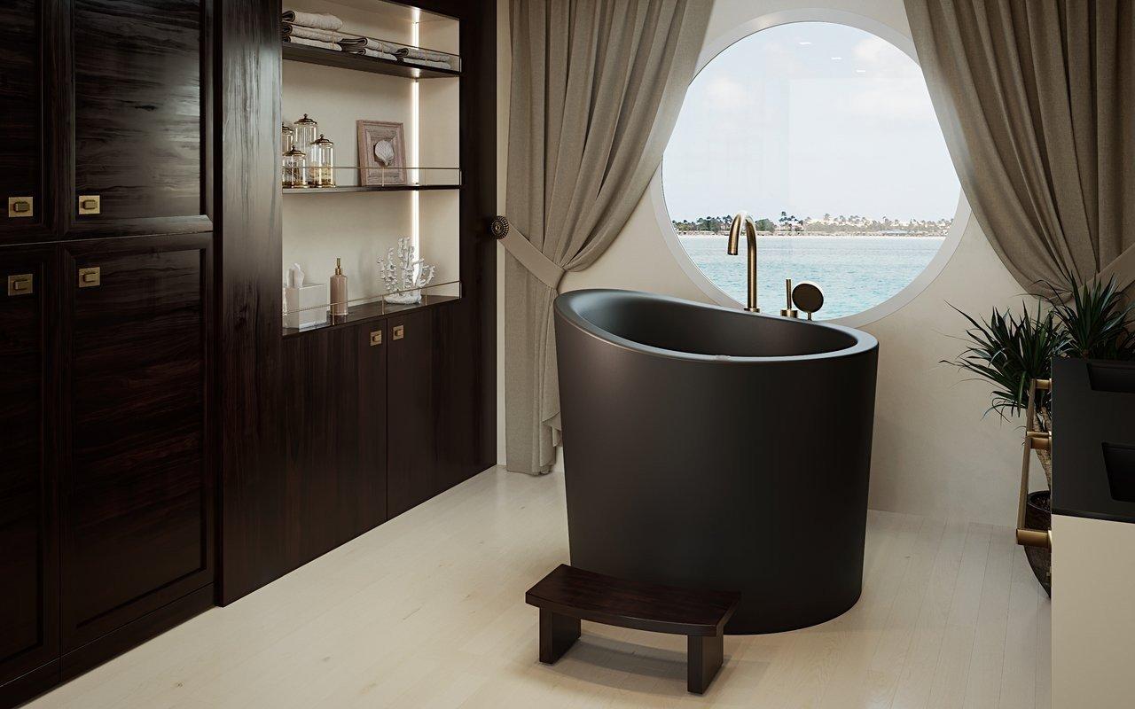 True Ofuro Mini Black Tranquility Heated Japanese Bathtub 220 240V 50 60Hz 02 (web)