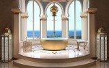 Aquatica adelina yellow gold wht round freestanding solid surface bathtub 02 (web)