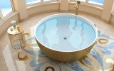 Aquatica adelina yellow gold wht round freestanding solid surface bathtub 05 (web)