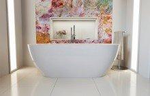 Gloria Wht Freestanding Acrylic Bathtub 1 web