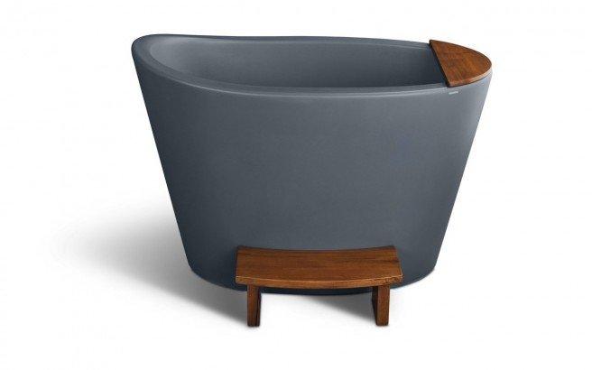 Aquatica True Ofuro Concrete Pro Freestanding Stone Japanese Soaking Bathtub 02 (web)