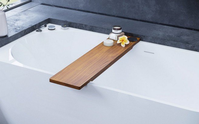 Universal Waterproof Iroko Wood Bathtub Tray 04 (web)