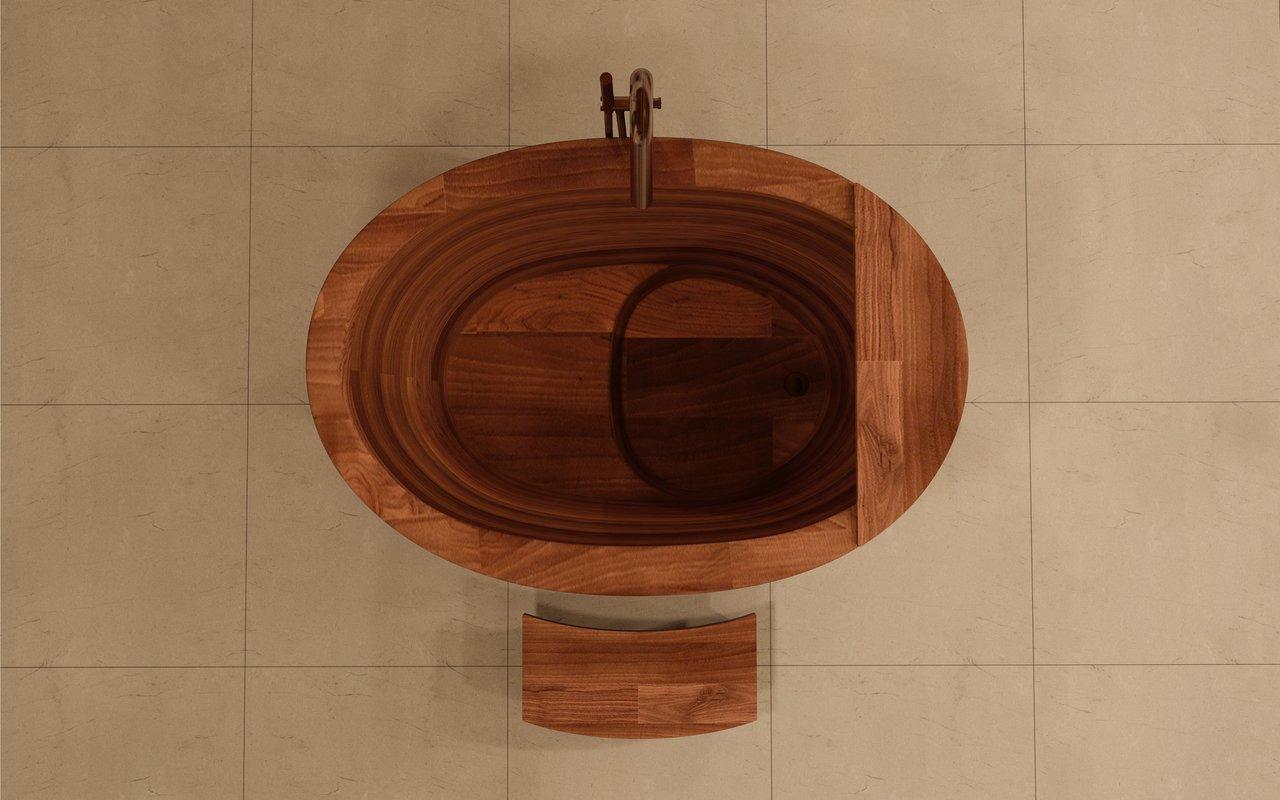 Aquatica TrueOfuro American Walnut Freestanding Wood Bathtub 5 (web)