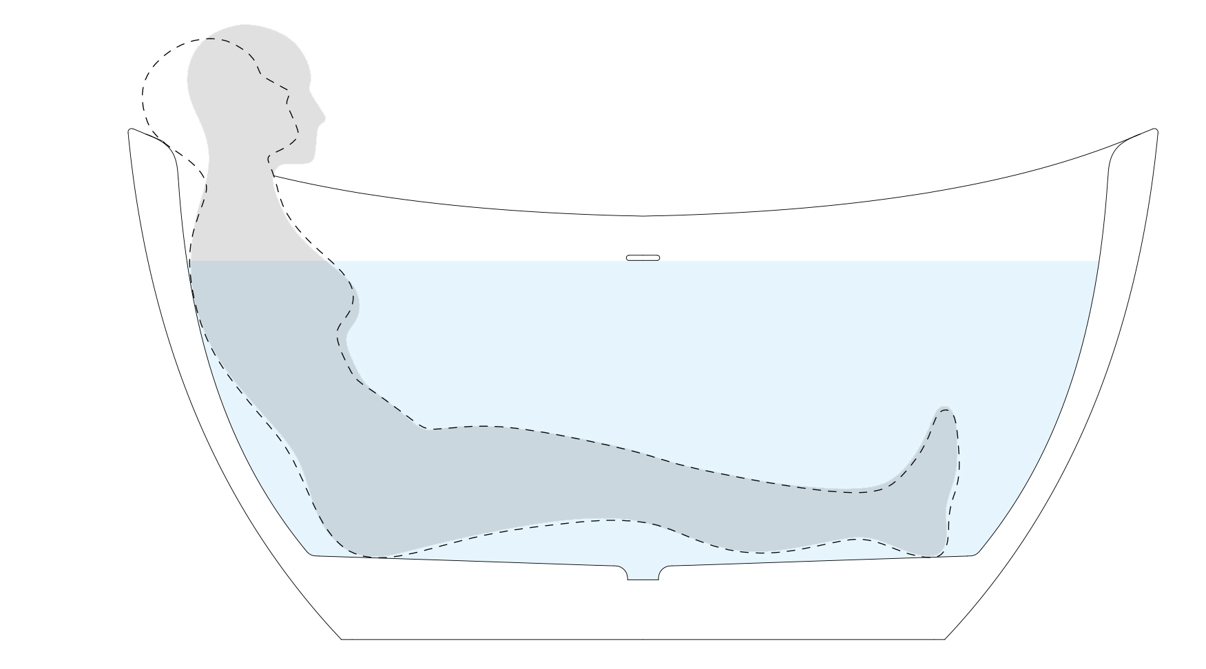 Aquatica purescape 171 mini freestanding solid surface bathtub Ergonomics En